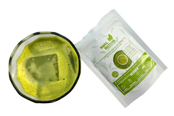 Real Matcha Pouch with Iced Tea