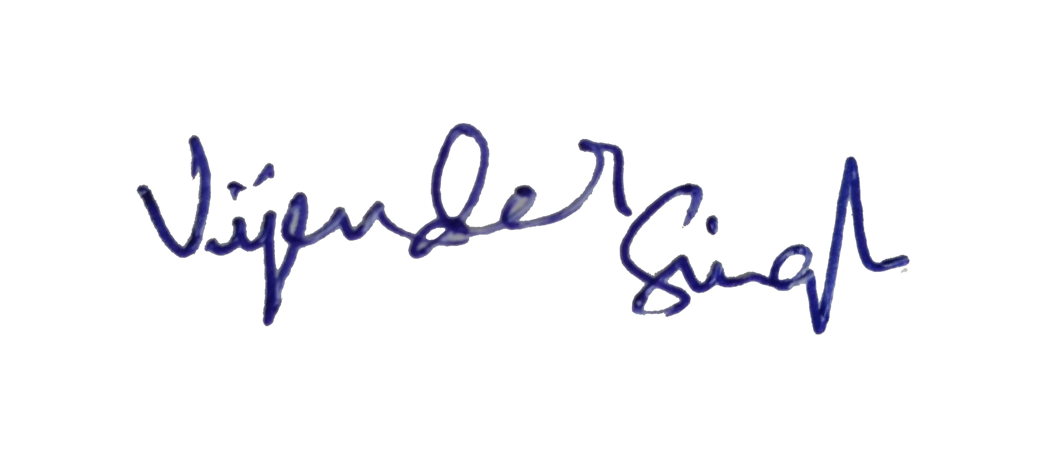Signature - Vijender Singh
